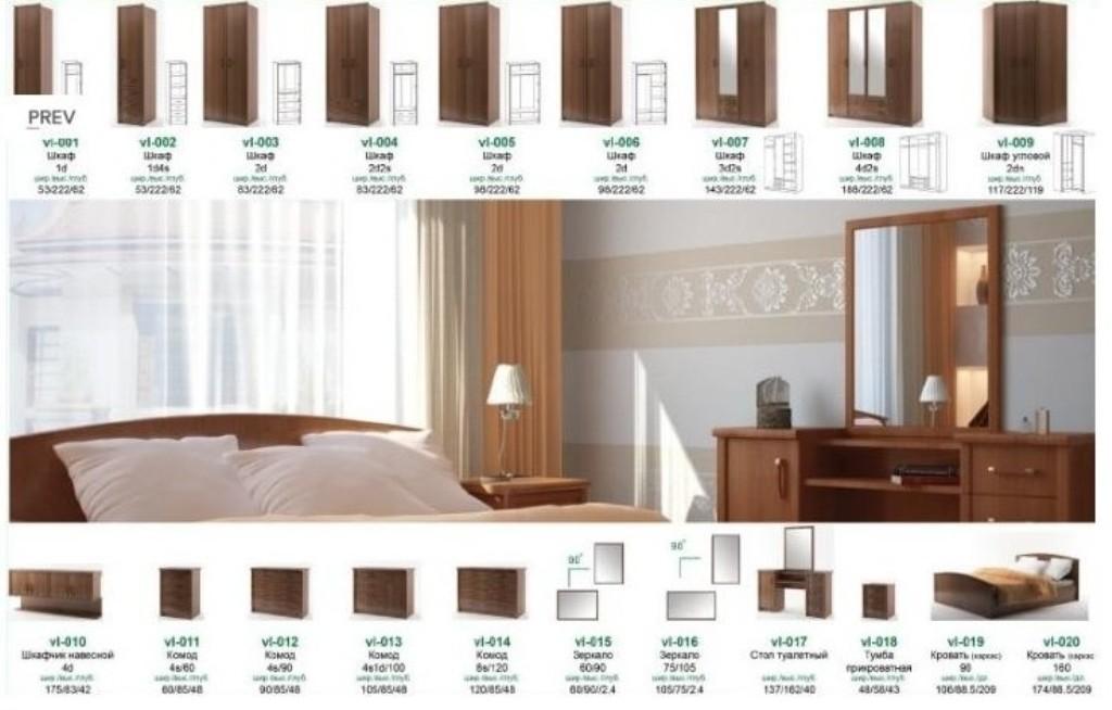 Спальня валерия нова гербор - центромебель - шкафы - украина.