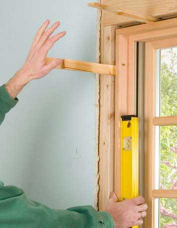 Установить окно деревянное