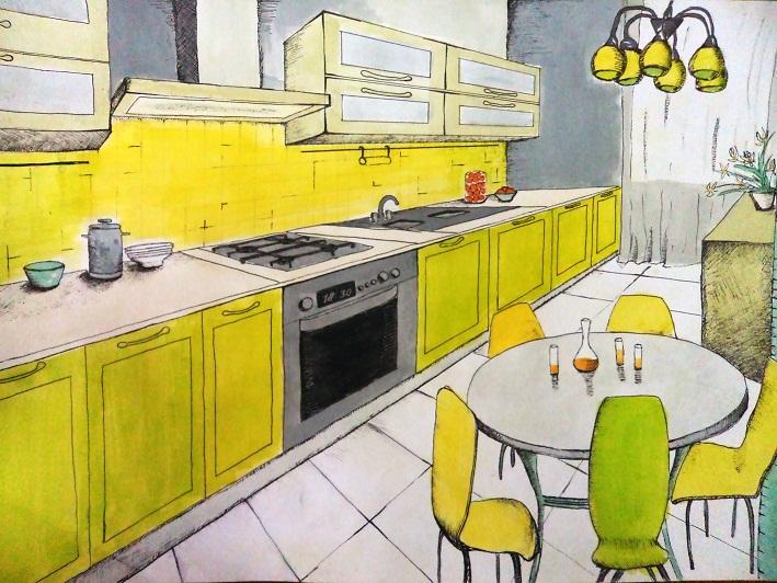 Работа и обучение дизайн кухни